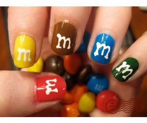 m&m's, m&m, and nails image