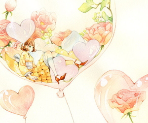 flowers, anime, and rose image