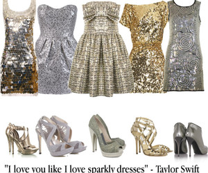 dresses, shoes, and sparkle image