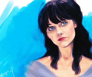 illustration and zooey deschanel image