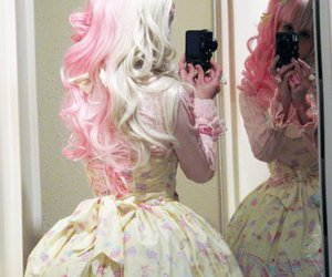 back, costume, and pink image