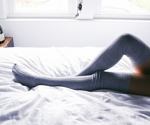 autumn, bed, and thigh image