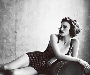 actress, fashion, and black & white image