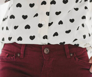 fashion, heart, and hearts image
