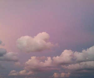 clouds, pale, and pink image