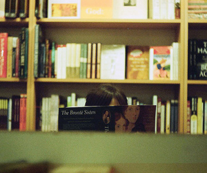 books, girl, and photography image