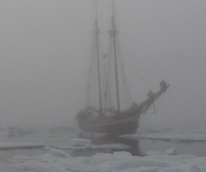 ship, pale, and ice image