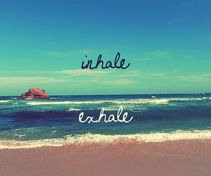exhale, inhale, and beach image