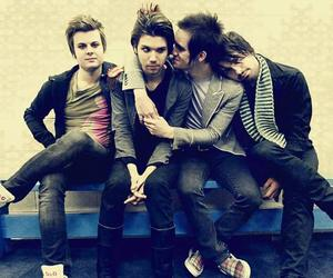 panic! at the disco, brendon urie, and spencer smith image