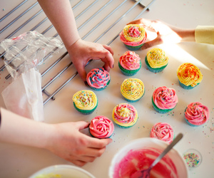 cupcakes, pastry, and yum image