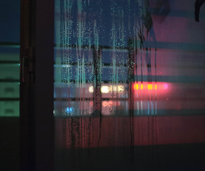 light, rain, and window image