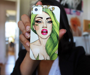 Lady gaga, iphone, and case image