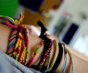 colors, wrist, and friendship bracelets image