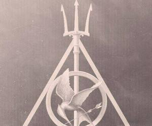 harry potter, percy jackson, and hunger games image