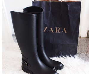 black, boots, and Zara image