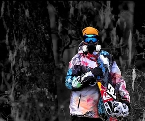 snowboard, winter, and snow image