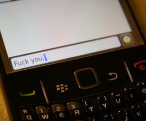 blackberry, phone, and text message image