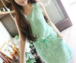 lovely perty dress, soft lace dress, and elegant evening dress image