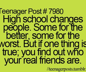 high school, quote, and friends image