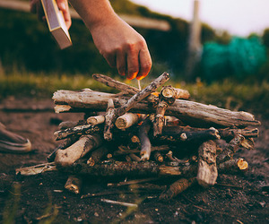 fire, adventure, and nature image