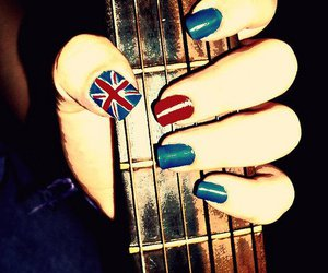 nails, guitar, and uk image