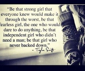 quote, girl, and strong image