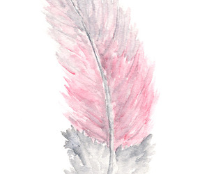 feather, pink, and art image