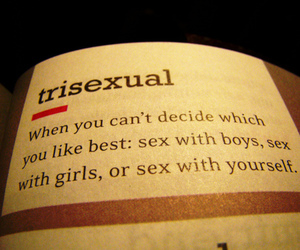 sex, sexuality, and trisexual image