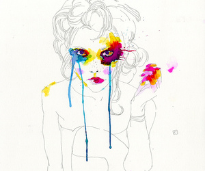 girl, art, and conrad roset image