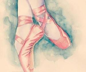 ballet, lightblue, and pink image