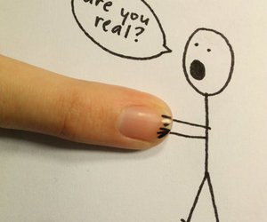 cartoon, finger, and cute image