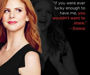 donna, suits, and tv image
