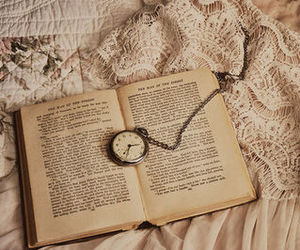 book, time, and watch image
