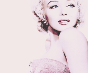 famous, pink, and Marilyn Monroe image