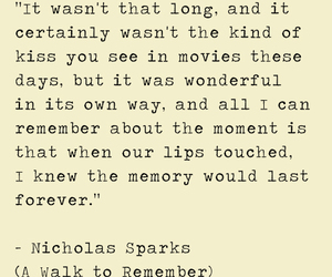 A Walk to Remember, kiss, and memory image