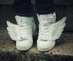 shoes, wings, and sneakers image