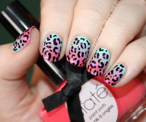 art, leopard, and nails image