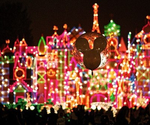 disney, light, and disneyland image