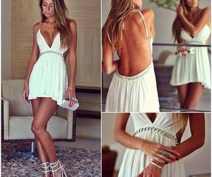 dress, white, and heels image