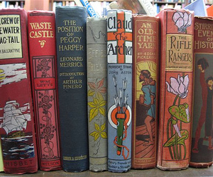 Art Nouveau, books, and book spines image