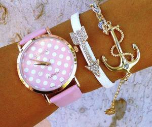 clock, beautiful, and pink image
