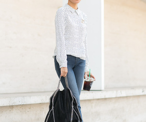 casual, fashion, and dots image