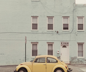 car, vintage, and yellow image