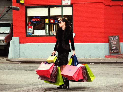 shopping, bag, and girl image