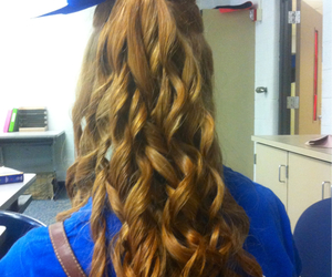 blue, cheer, and curly image