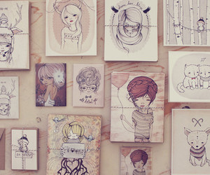 art, drawing, and vintage image