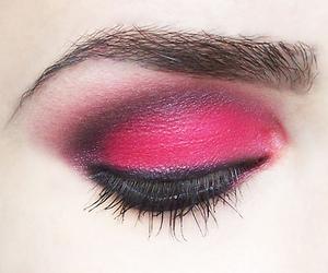 make up, eyeshadow, and pink image