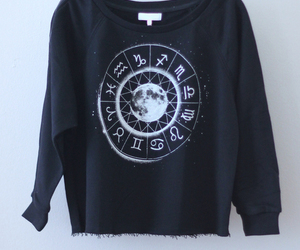 clothes, moon, and zodiac signs image