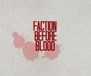 divergent, book, and blood image