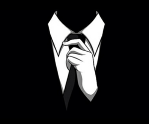 black and white and tie image